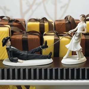 Interchangeable Cake Toppers   Western Roped Groom Home & Kitchen
