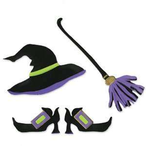 Sizzix Originals WITCH HAT BROOM SHOES DIE RED LARGE: Home & Kitchen