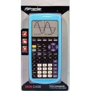 Light Blue Skin Case for TI 83 Plus Graphing Calculator Electronics