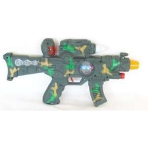 Battery Operated Camo Vibrating Light Up Toy Gun Toys