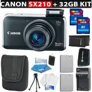 Black) + 32GB SDHC Memory + Card Reader + Memory Wallet + Canon NB 5L