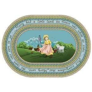 Joy Carpets Just For Kids MaryS Lamb 1483 Blue Kids Room 78 x 109