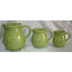 CERAMIC GREEN LARGE PITCHER