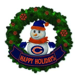 Bears Lighted Snowman Artificial Christmas Wreath