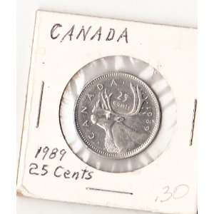 1989 Canada 25 Cents Coin Everything Else