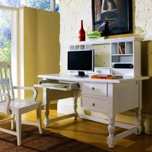Bella Computer Desk with Optional Hutch and Chair   Cream