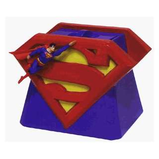 Superman Logo Sculpted Cookie Jar:  Kitchen & Dining