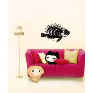 Wall Mural Vinyl Sticker Cute Exotic Fish A624