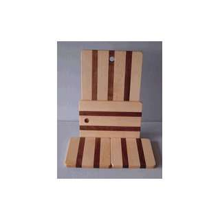 MAPLE AND WALNUT CUTTING BOARD AND HOT PLATE SET: Kitchen