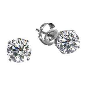 14k White Gold Diamond Stud Earrings (1/3 ctw, SI HI) Jewelry