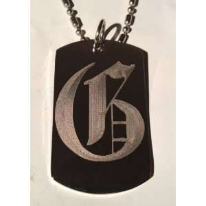 Letter G OLD English Font Initial   Military Dog Tag