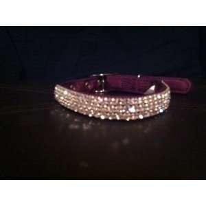 Swarovski Crystal Dog Collar Fits 10 14 necks Rhinestone Dog Collar