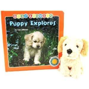 Puppy Explores   a Smithsonian Baby Animals Book (with stuffed