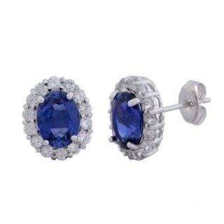 Sterling Silver Black Diamond Bamboo Hoop Earrings (1/2 cttw) Jewelry