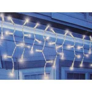 Set Of 70 Dazzling White LED Icicle Christmas Lights White