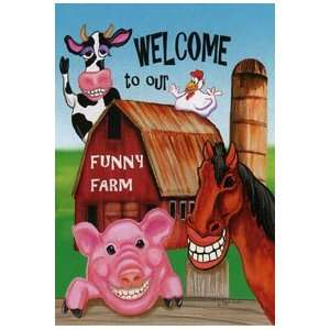 com Everyday Funny Farm Garden Flag 12.5x18 Patio, Lawn & Garden