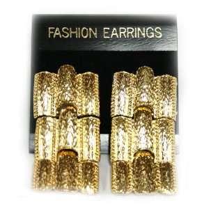 Faux Gold Bar Dangle Earring Set   Fashion Earring Toys & Games