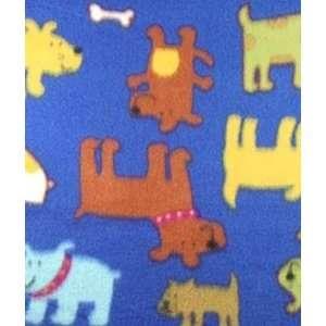 Royal Happy Puppy Fleece Fabric: Arts, Crafts & Sewing