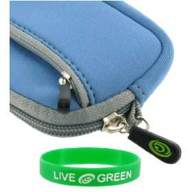 Neoprene Sleeve Case (Blue) for Flip MinoHD Camcorder