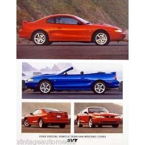 1998 Ford SVT Mustang Technical Data Sheet Everything