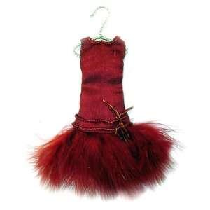 Fun & Flirty Diva Red Evening Dress Christmas Ornament 6 #W6942