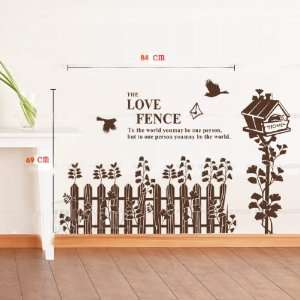 Love home fence nursery kids roomremovable quote vinyl wall decals