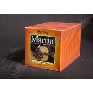 Bulk 12 Sets, Martin, Acoustic Guitar Strings, Medium Light Gauge, 80