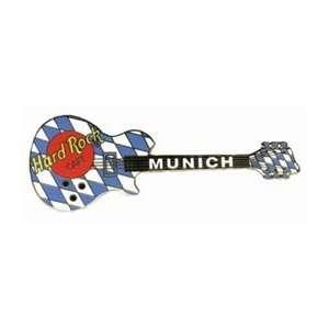Hard Rock Cafe Pin 13964 Munich Bavarian Flag Guitar