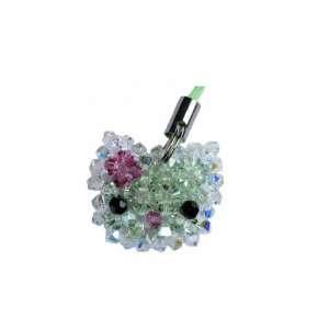 Swarovski Crystal Cell Phone Charm Hello Kitty Green