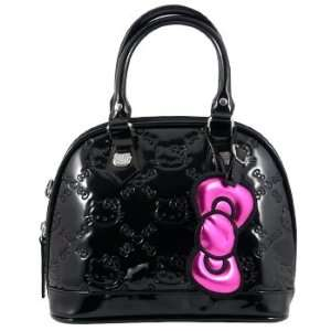 Hello Kitty Small Black Patent Embossed Purse Tote Bag Toys & Games