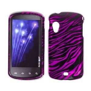 Samsung i405 / Stratosphere Transparent Black & Hot Pink Zebra