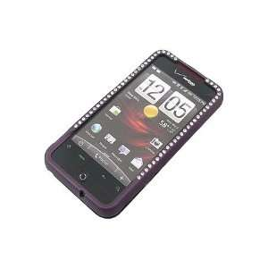 HTC Droid Incredible Rubber Diamond Case Purple Cell
