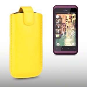 HTC RHYME PU LEATHER CASE, BY CELLAPOD CASES YELLOW