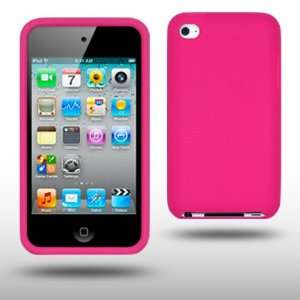 IPOD TOUCH 4 HOT PINK SILICONE SKIN CASE BY CELLAPOD CASES