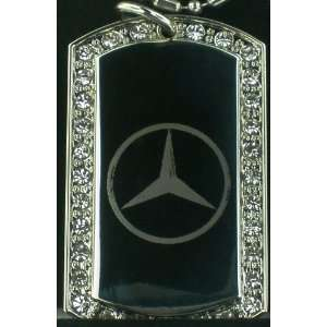 com MERCEDEZ LOGO SIGN CZ DOG TAG PENDANTS NECKLACE Everything Else