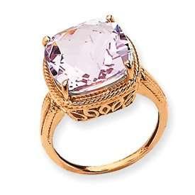 Rose Gold Pink Quartz Ring   Size 6   JewelryWeb Jewelry