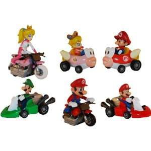 Super Mario Kart Figures Set of 6 Toys & Games