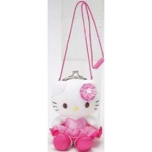 Hello Kitty Plush Kiss Lock Purse   Pink Tutu Toys & Games