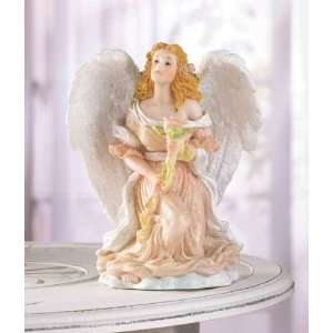 Angel Kneeling With Rose Statue / Figurine Home & Kitchen
