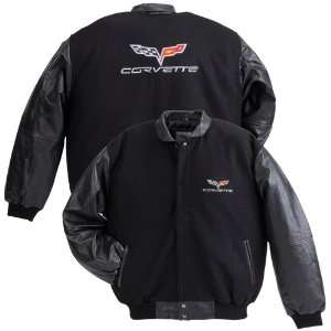 C6 Corvette Wool Varsity Jacket with Lambskin Sleeves