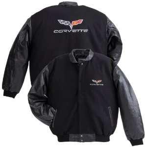 C6 Corvette Wool Varsity Jacket with Lambskin Sleeves