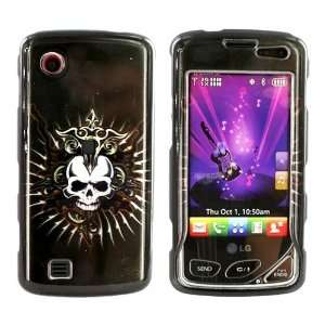For LG Chocolate Touch Hard Case Skull Black Design