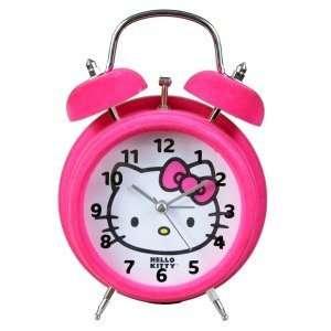 Hello Kitty Twin Bell Pink Alarm Clock