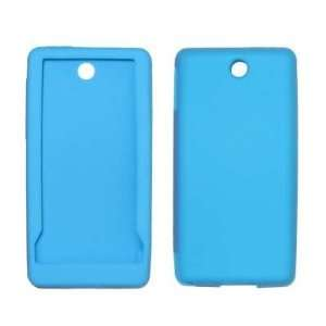 Light Blue Soft Silicone Gel Skin Cover Case for HTC Touch