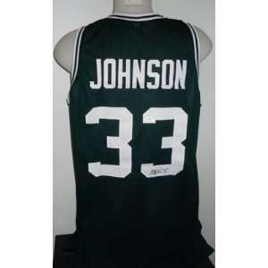 Magic Johnson Autographed Jersey   Michigan State Spartans