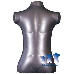 Inflatable Mannequin, Male Torso, Extra Large Silver