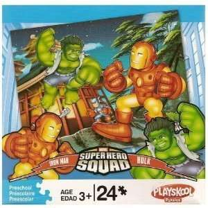 Marvel Super Hero Squad Puzzle   Iron Man and Hulk Toys & Games