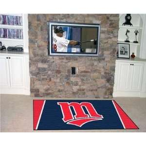 Exclusive By FANMATS MLB   Minnesota Twins 5 x 8 Rug