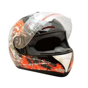 Adult Red Skull Full Face Motorcycle Street Helmet (S21.5 22 inches