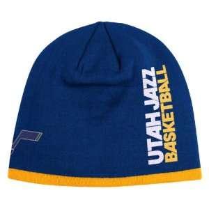 UTAH JAZZ NBA CUFFLESS TEAM KNIT BEANIE HAT/CAP BY ADDIAS